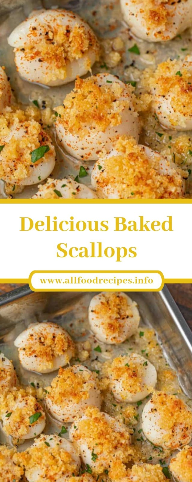 Delicious Baked Scallops