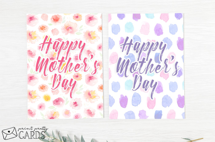 Two Mother's Day Cards to Print