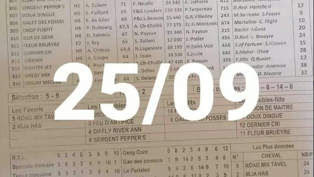 programme quinté+ quinté samedi 25/09/2021