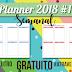 Planner 2018 #11: semanal 4 dias por página (gratuito para download)