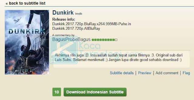 Selanjutnya setelah memilih subtitle, Anda hanya perlu mengklik tombol Download Indonesian Subtitle kemudian tunggu sampai proses pengunduhan selesai.