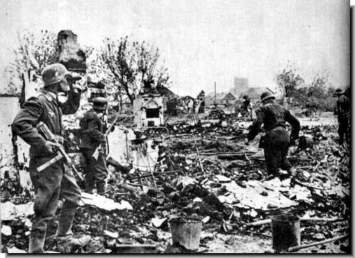 Germans fighting a rear guard action