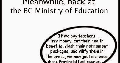 BC Teacher Info: Meanwhile, back at the BC Ministry of