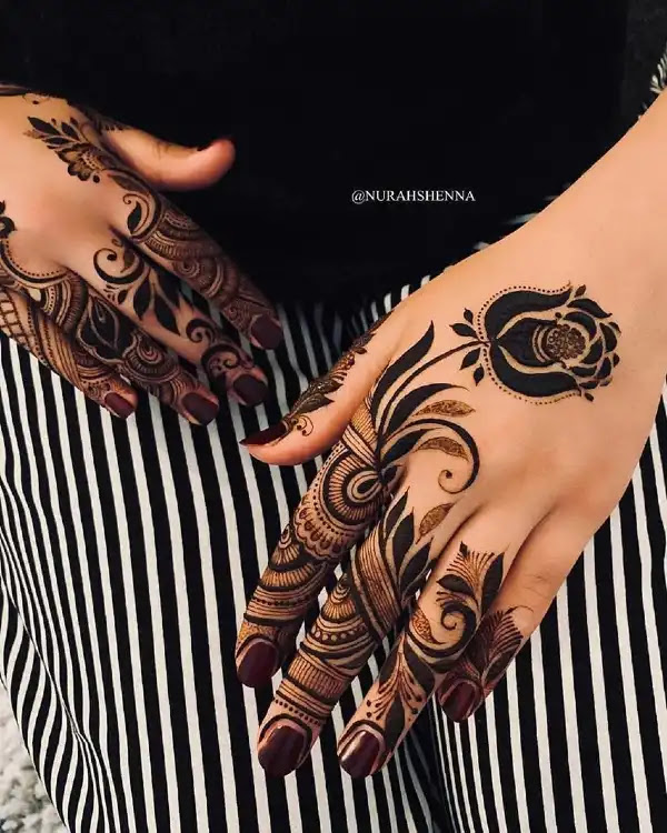 Pretty-stylish-leaves-hena-pattern