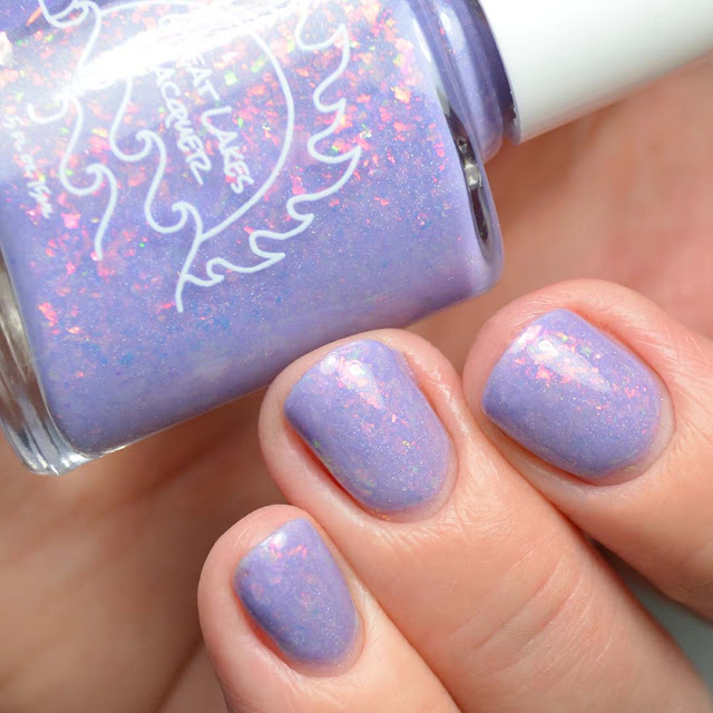 lavender flakie nail polish swatch