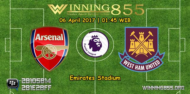 Prediksi Skor Arsenal vs West Ham United 06 April 2017