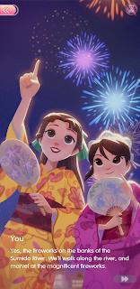 Yuko and Kuroko enjoying fireworks together