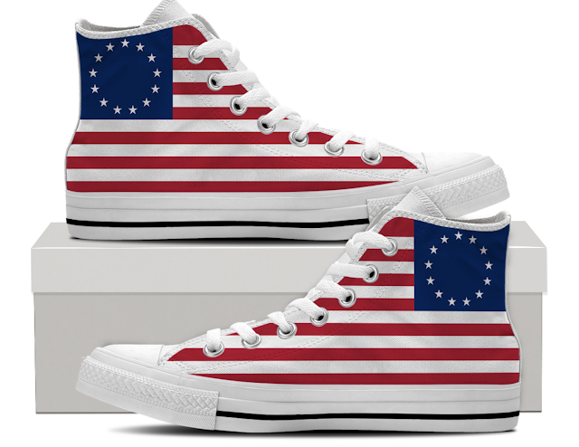 Forget Nike, This Company's Flag Support Can't Be Wavered: Betsy Ross Sneakers On Sale, With Proceeds To Benefit Veterans' Charity