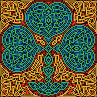 knotwork shamrock- blank version available to color