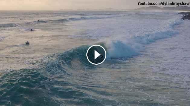 Jack Freestone double barrel at Burleigh Heads Cyclone Oma Swell