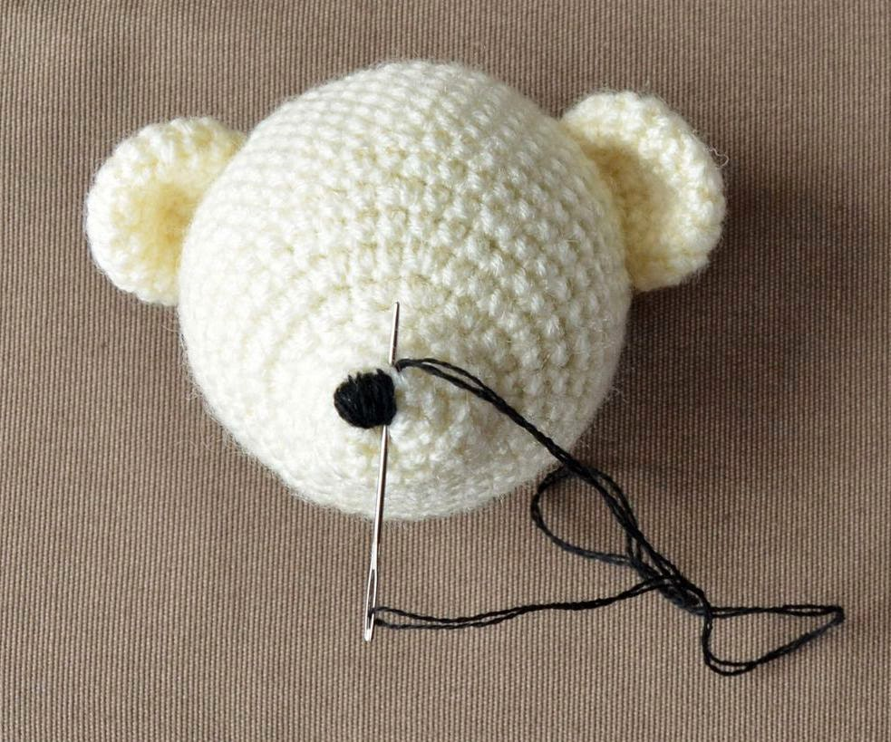 Free crochet pattern teddy bear face applique … | Crochet teddy ... | 819x983