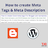 How to create Meta tags and Meta Description for Blog, Website