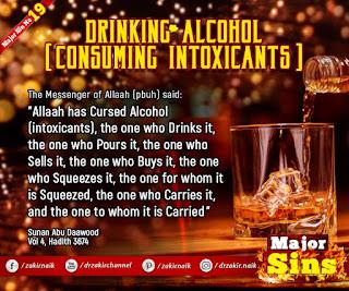MAJOR SIN. 19.2. DRINKING ALCOHOL (CONSUMING INTOXICANTS )