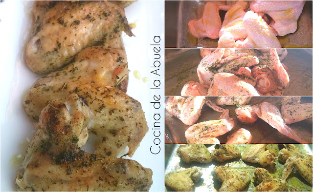 Alitas pollo horno receta sencilla