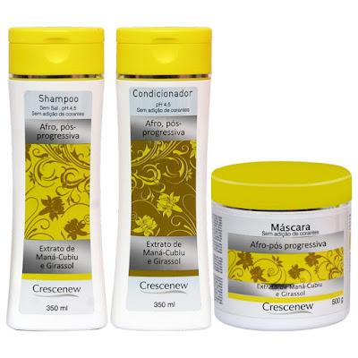 Shampoo, condicionador e máscara hidratante capilar óleo de girassol cabelos afros