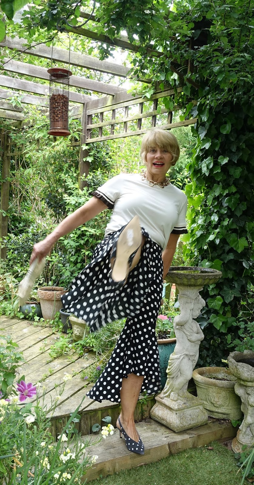 Wide cropped culottes are less tricky to wear than you might think. Is This Mutton, the blog for the stylish over-45s, finds a great pair of Flamenco hem polka dot cropped trousers from River Island