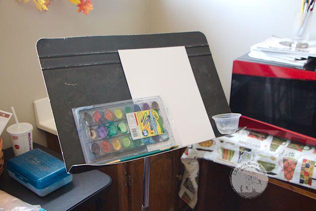 Watercolor hidden message for an Art Themed Escape Room.