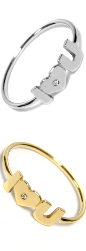 JANE BASCH DESIGNS I Heart U Diamond Ring (sold separately)