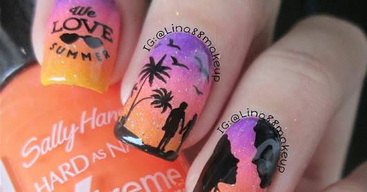 Romantic sunset nail art ft Born Pretty Store BPL-017 & BPL-021
