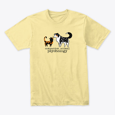 Companion Animal Psychology t-shirt, shown in lemon yellow
