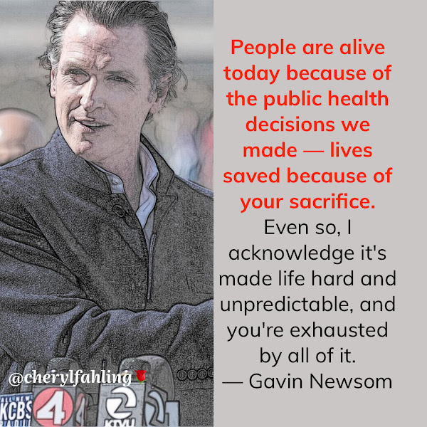 People are alive today because of the public health decisions we made — lives saved because of your sacrifice. Even so, I acknowledge it's made life hard and unpredictable, and you're exhausted by all of it. — California Gov. Gavin Newsom