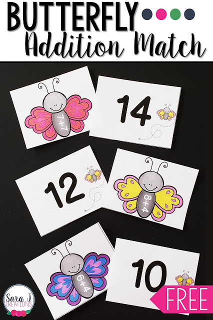 Butterfly addition match game