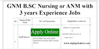 Staff Nurse Jobs in Maharashtra