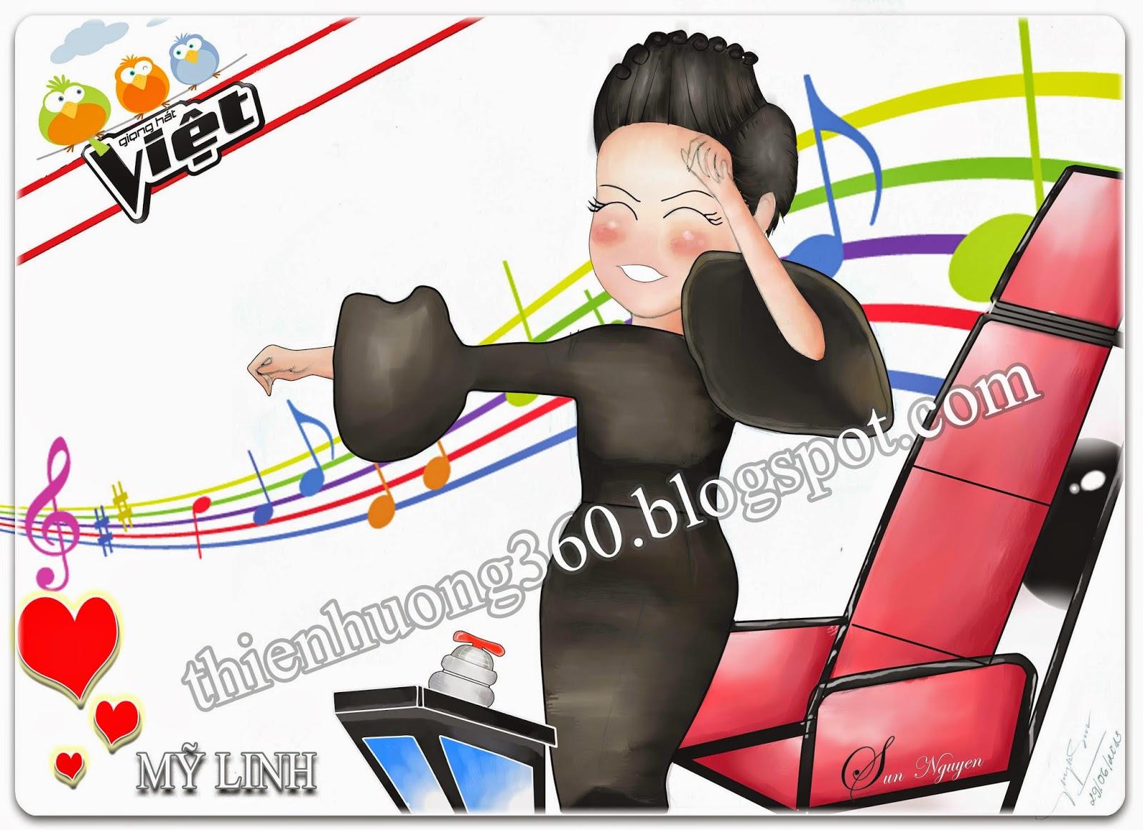 Vẽ Chibi ca sĩ Mỹ Linh