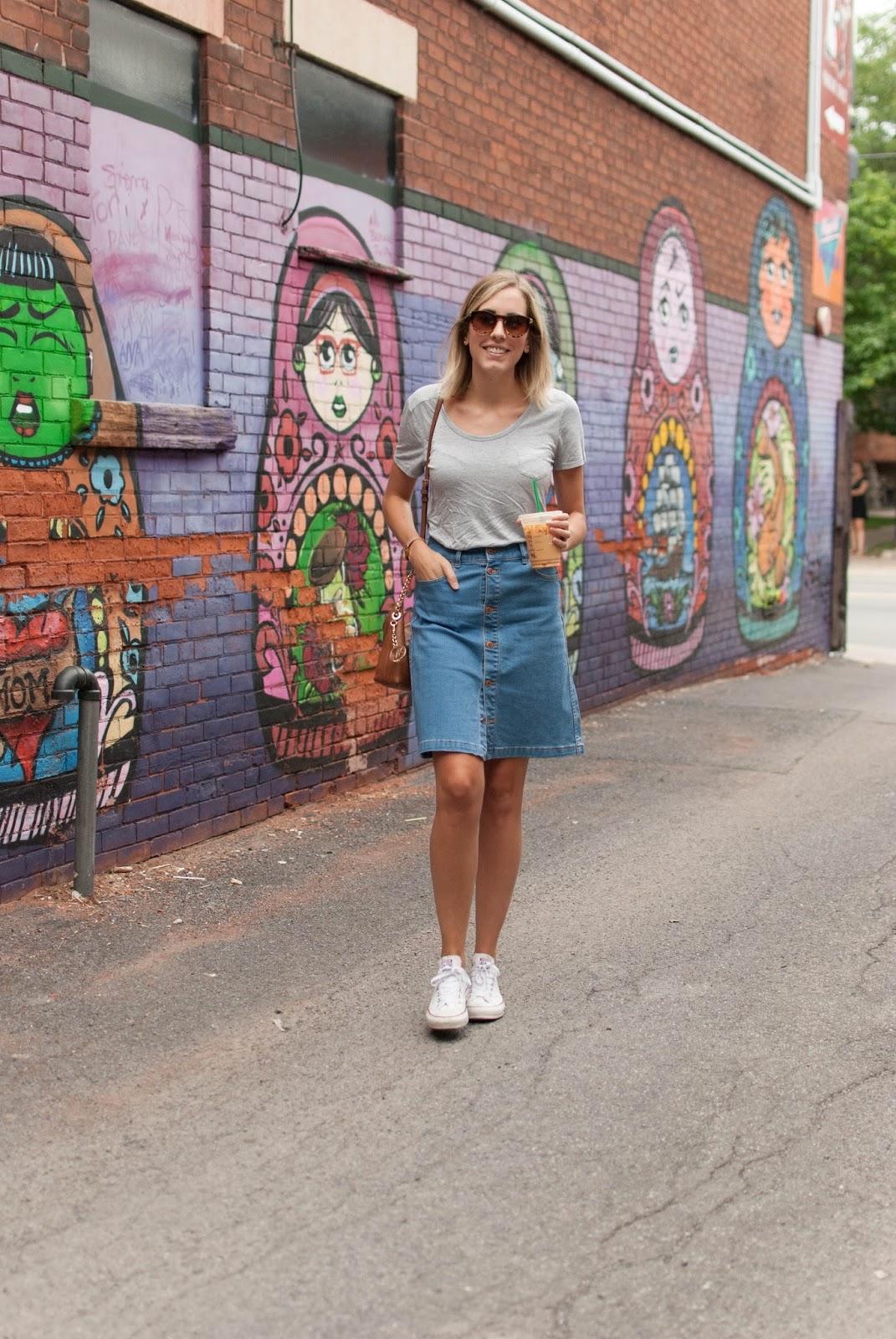 Joe Fresh skirt and t-shirt