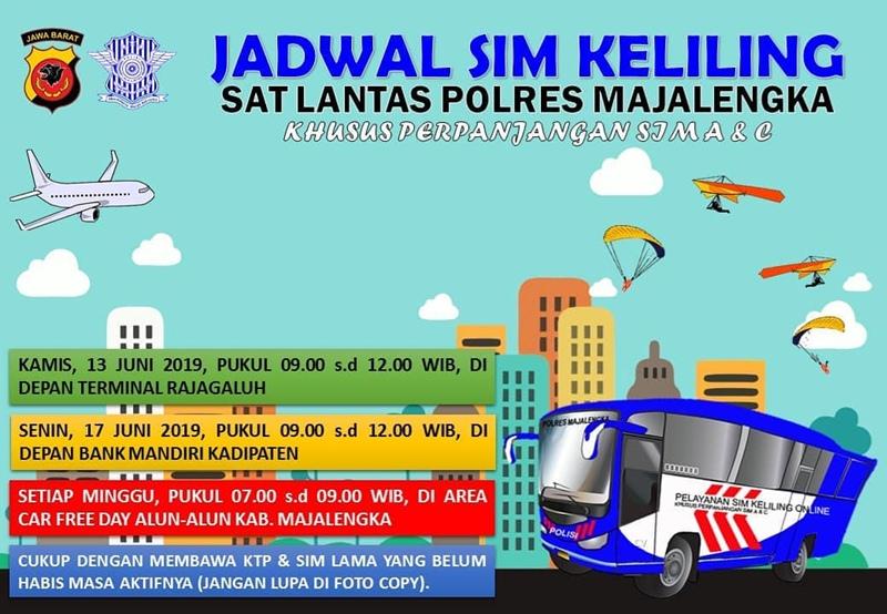 Jadwal SIM Keliling Majalengka Juni 2019 - IGsatlantas_mjlk