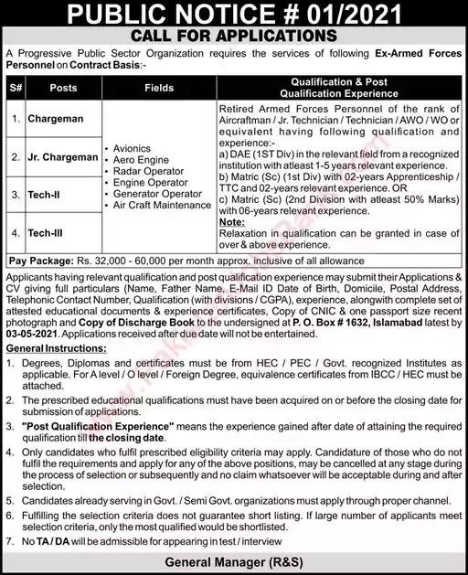 New Jobs in Pakistan PO Box 1632 Islamabad Jobs 2021