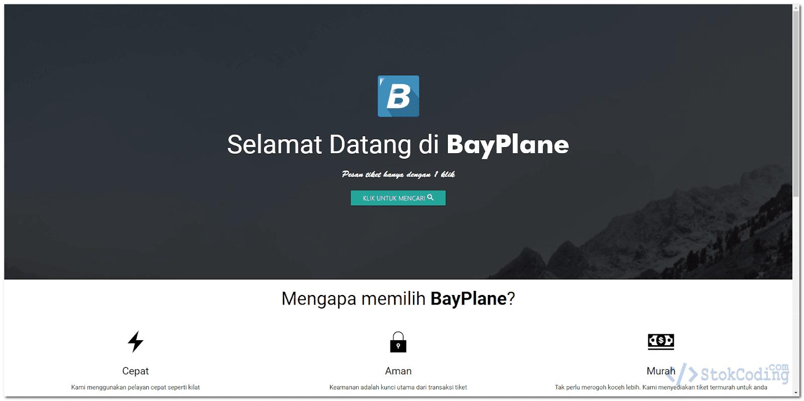 Aplikasi Pemesanan Tiket Pesawat Berbasis Web (PHP)