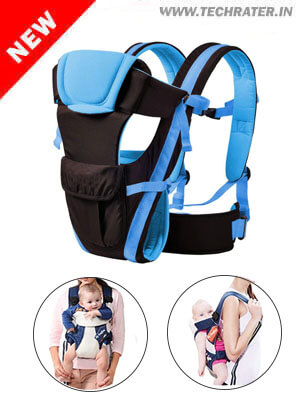 4-in-1 Adjustable Baby Carrier Bag - Safety Belt and Buckle Straps