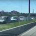 Trânsito totalmente parado desde a Coteminas a Felizardo Moura por operação tapa-buraco e operação policial