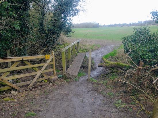The last footbridge mentioned in point 11 below