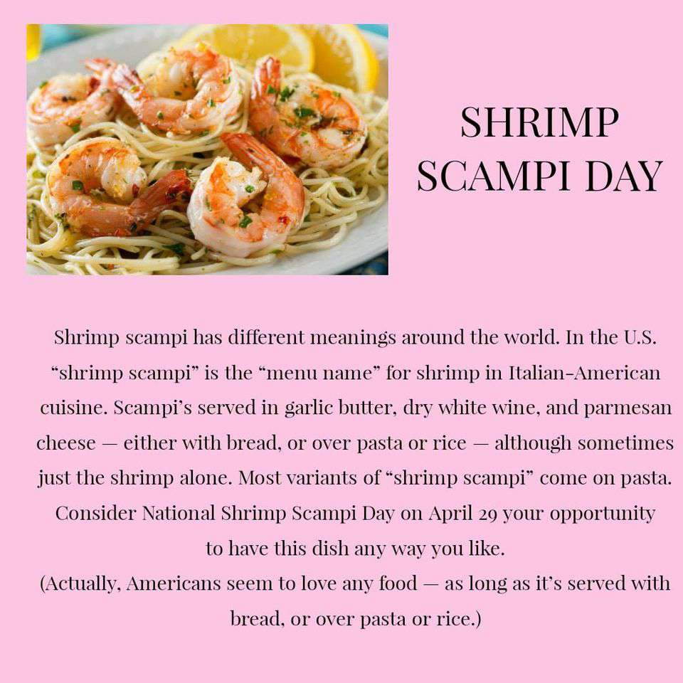 National Shrimp Scampi Day Wishes Images
