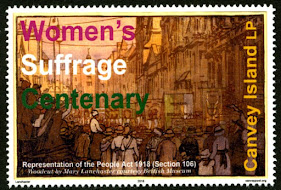 Canvey Local Post Women's Suffrage Centenary Stamp