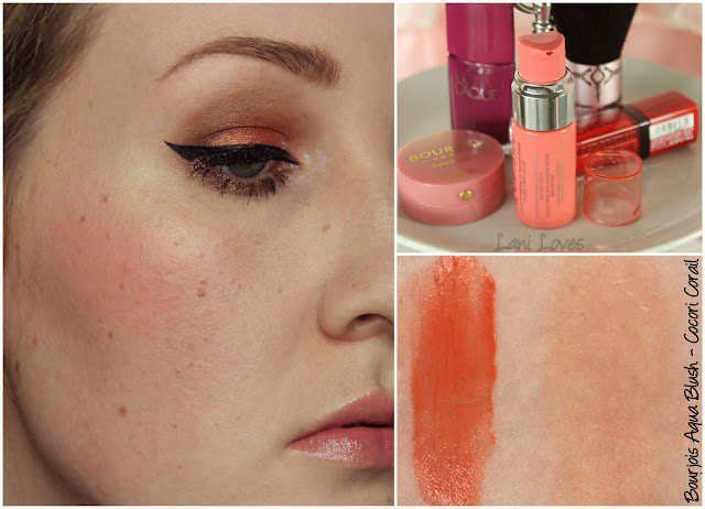 Bourjois Aqua Blush - Cocori Corail swatch & review