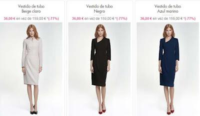 vestidos de tubo por 36 euros