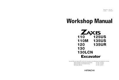 Hitachi ZX 110, 110M, 120, 130, 130LCN service manual