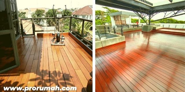 berbagai penematan decking ulin - area balkon dan rooftop