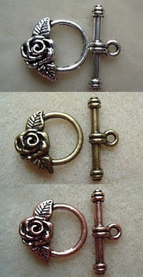 fancy rose clasps
