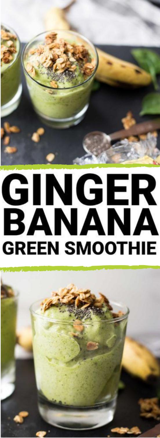 Ginger Banana Green Smoothie #drink #smoothie