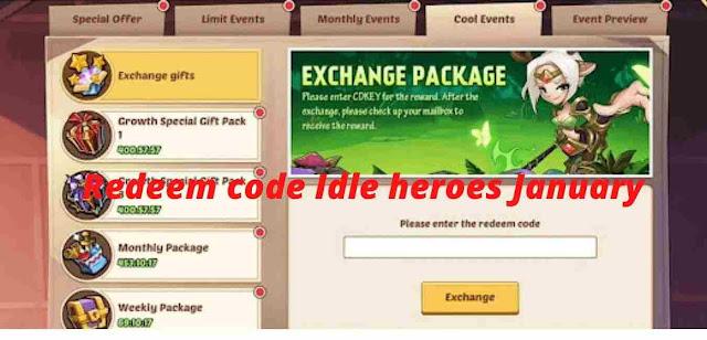 redeem code idle heroes