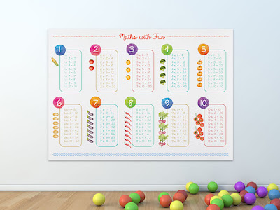 Mama Love Print Printable -  乘數表海報  Multiplier Table Poster Free Download Freebies Printable