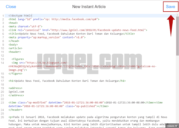 Cara Membuat Facebook Instant Articles Di Blogger