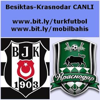 Beşiktaş Krasnodar maçı canlı