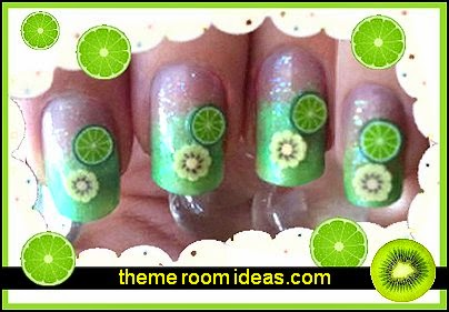 nail Art Sticker Decoration Polymer 3D Slice fruit themed nail design ideas