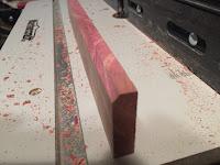 Cove groove in the cedar piece