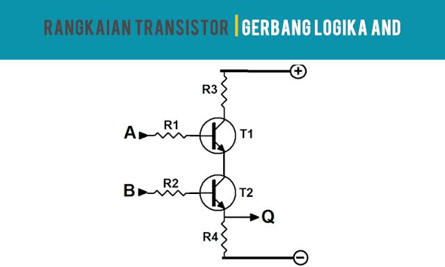 Rangkaian Transistor Gerbang Logika AND